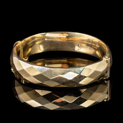 Vintage 9ct Yellow Gold Bangle Dated Chester 1961