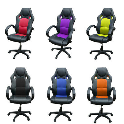 Sport Racing Gaming Office Computer Chair Mesh Executive Chair PU Leather Desk