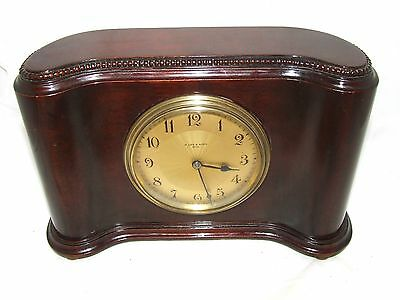Antique Mahogany Bracket Mantel Clock : H. LEE & SONS HULL (a76)