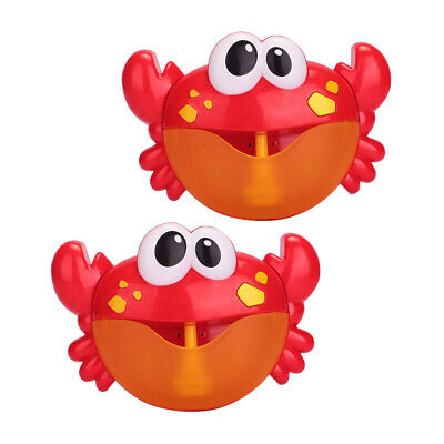 2pieces Cute Musical Crab Bubble Maker Machine Automated Kids Baby Bath Toy