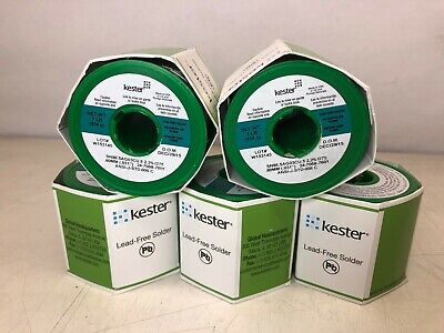 Lot of 5 New Kester One Pound Lead Free Solder Wire SN96.5AG03CU.5#58/275 .80mm
