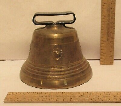 BRASS BODY BELL - REPRODUCTION - 5 ½ inches across bottom
