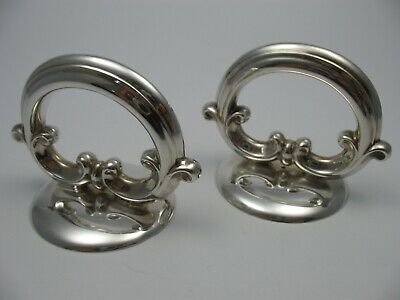2 Very Beautiful Large Napkin Rings from 925 Sterling Silver