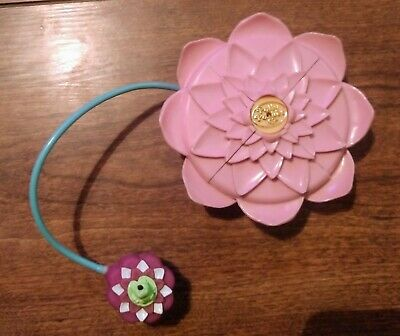 VNTG Polly Pocket 1996 Lotus Flower Compact (pink) Excellent condition!!