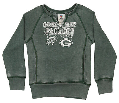 8ccc9685 Outerstuff NFL Youth Girls Burnout Long Sleeve Fleece, Green Bay Packers
