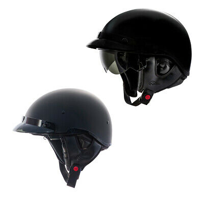 01834870 Adult Fulmer Motorcycle Half Helmet DOT Approved Retractable Inner Sun Shade