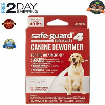 SAFE-GUARD DOG Dewormer Large 8-in-1 Puppy Tapeworm Worms Medicine Safeguard