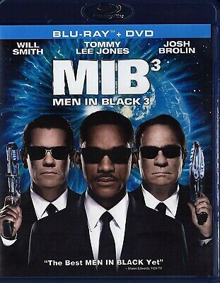 Men in Black 3 (Blu-ray/DVD, 2012, 2-Disc Set)With Will Smith/Tommy Lee Jones..