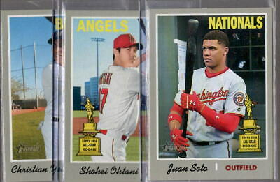 2019 Topps Heritage Short Print High Number SP 401-500 - You Pick From A List
