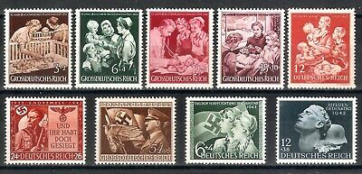 DR Nazi 3d Reich RARE WW2 WWII STAMP Hitler Jugend Swastika Flag Girl SS Soldier