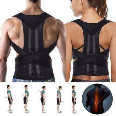 Posture Corrector Corset Back Brace Support Shoulder Straightener Adjustable UK