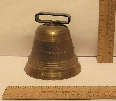 BRASS BODY BELL - AUVERGNE - REPRODUCTION - 3 7/8 inches across bottom