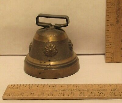 BRASS BODY BELL - REPRODUCTION - 2 3/4 inches across bottom
