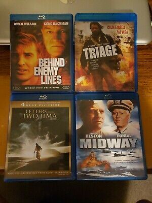 Letters from Iwo Jima + Triage + Midway + Behind Enemy Lines Blu-ray Lot
