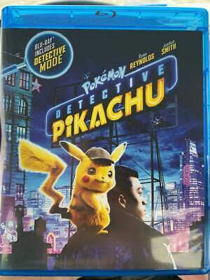 Pokemon Detective Pikachu 2019 BLU-RAY ONLY+Case+Art No DVD/Digital/Slip SAVE$$$