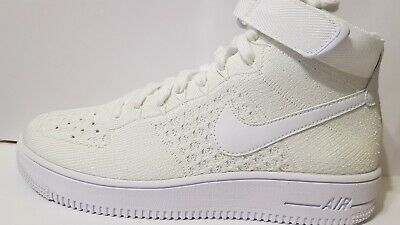 size 40 3bc87 36131 Mens Nike Air Force 1 Ultra Flyknit MID - 817420 102 - Triple White Trainers  8.5