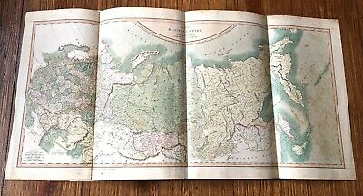 18th C Map of the Russian Empire Dated 1799 by John Cary Engraver Hand Colored