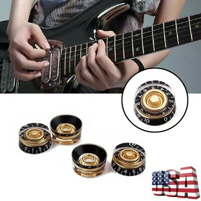 4Pcs Cuitar Speed Volume Tone Control Knobs For Gibson Les Paul Electric Guitar