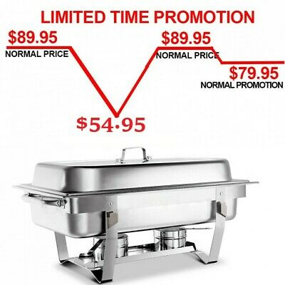 Bain Marie Chafing Dish 9L Bow Buffet Food Warmer Stackable Set