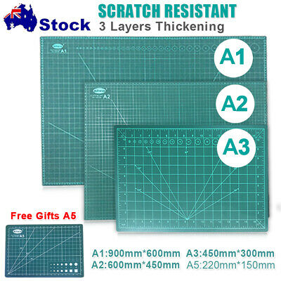 A1 A2 A3 A5 Real 3-Ply Self Healing Craft Cutting Mat 2-Sided Thick Self Healing