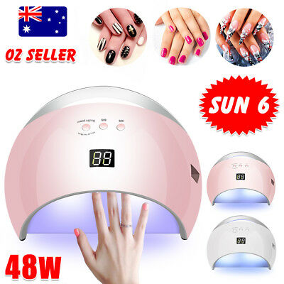 SUN6 48W LED UV Nail Lamp Light Gel Polish Dryer Manicure Art Curing AU Plug
