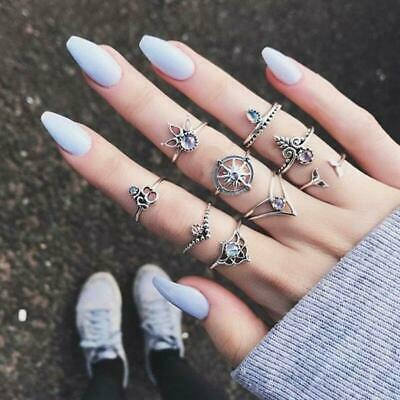 Rings For Women Flowers Delicate Hollow Out Crystals Stud Rhinestone LA