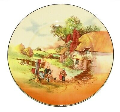 ROYAL DOULTON ornament Plate series ware  ' Rustic England ' D5694 1st Quality