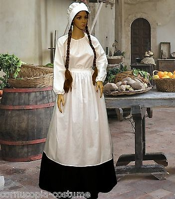 Ladies  Medieval ,Tudor serving wench peasant 4pc costume fancy dress size 10-32