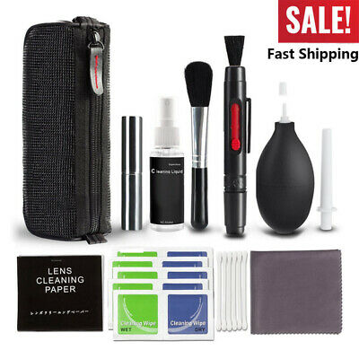 USA 10 in 1 Professional Lens Cleaning Kit For Canon/Nikon/Sony LG DSLR Camera