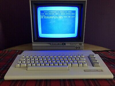 BOXED C64 COMMODORE 64 Disc Drive 1541 Does Not Play Disks