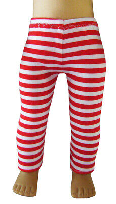 """For 18"""" American Girl EXCLUSIVE! Red White Striped Leggings Doll Clothes"""