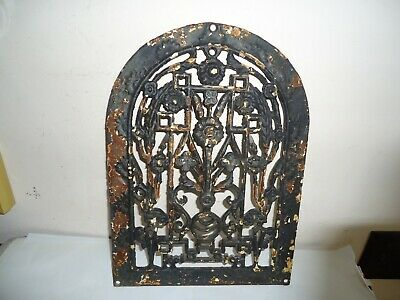 #2B Antique Arched Cast Iron Decorative Heat Wall Grate Register