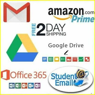 Edu Mail student Email Edumail 6months Amazon Prime G Drive Office 365 Discounts