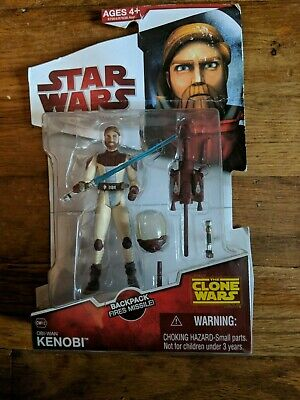 Star Wars 2009 Clone Wars OBI-WAN KENOBI Space Suit Gear CW 12 Toy Figure