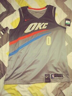 d6f7cf513 RUSSELL WESTBROOK  0 Oklahoma City Thunder Men s Orange Earned ...