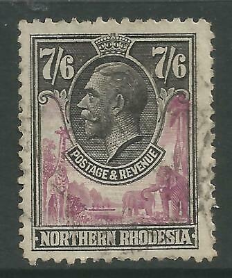 STAMPS-NORTHERN RHODESIA. 7/6d Rose-Purple & Black. SG: 15. Fine Used