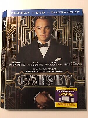 The Great Gatsby SLIPCOVER ONLY!! - NO Bluray / NO DVD / No Case - NEW Condition