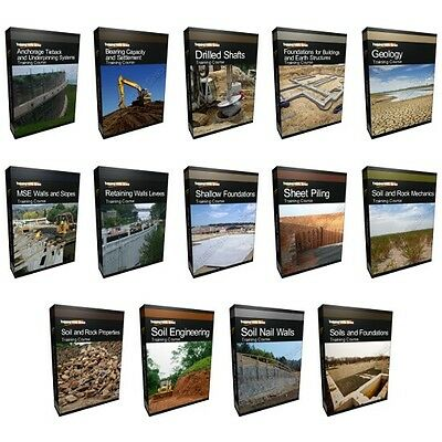 COLLECTION - Geotechnical Soil Rock Engineering Mechanics Training Course Bundle