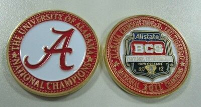 Alabama Football 2012 Bcs National Champions Painted Poker Guard Vs Lsu Coin