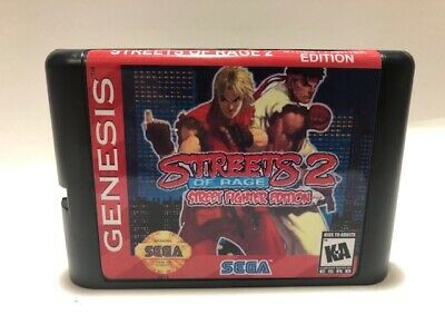 Street of Rage 2 Street Fighter Edition Hack 16-bit Beat Em Up Game Sega Genesis