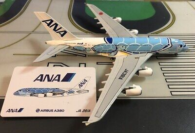 ANA-All Nippon Airbus A380 JA381A Flying Honu Lani 1/400 scale diecast JCWings