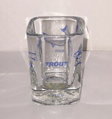 TROUT Fish Heavy Duty Square Shot Glass Rainbow Brook & Brown by Expressions