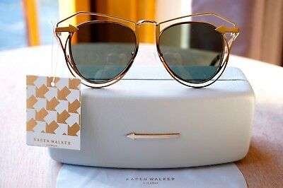 f27e445510938 AUTHENTIC KAREN WALKER Marguerite Sunglasses Gold- New with tags ...