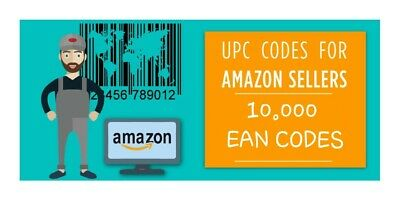 🔥🔥🔥Amazon EAN UPC Numbers Barcodes Bar Code Gs1 EAN  Lifetime Guarantee 10000