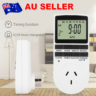 Timer Switch Electric Automation Socket Programmable Power AU Plug 240V