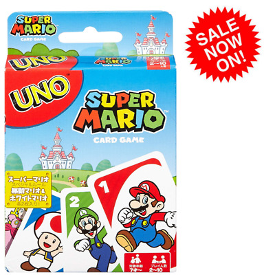 NINTENDO UNO Super Mario bros playing Cards Game classic fun for kids