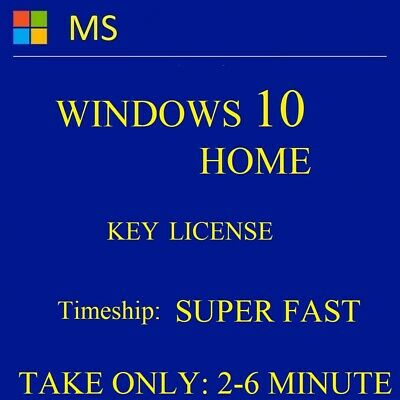 WINDOWS 10 Home 32/64 bit,Original Genuine License KEY, INSTANT & LIFETIME