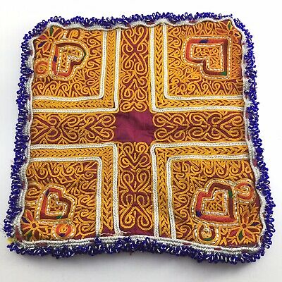 patch ethnic tribal afghan kuchi banjara ancient cotton beaded embroidered 4