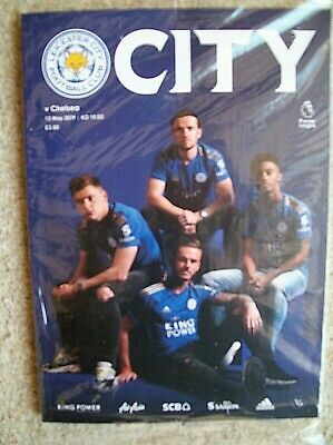 LEICESTER CITY  v CHELSEA   PROGRAMME  IN BAG with POSTER  12 - 5 - 2019