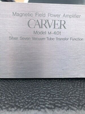 Carver Model M-4.0t Magnetic Field Power Amplifier Untested